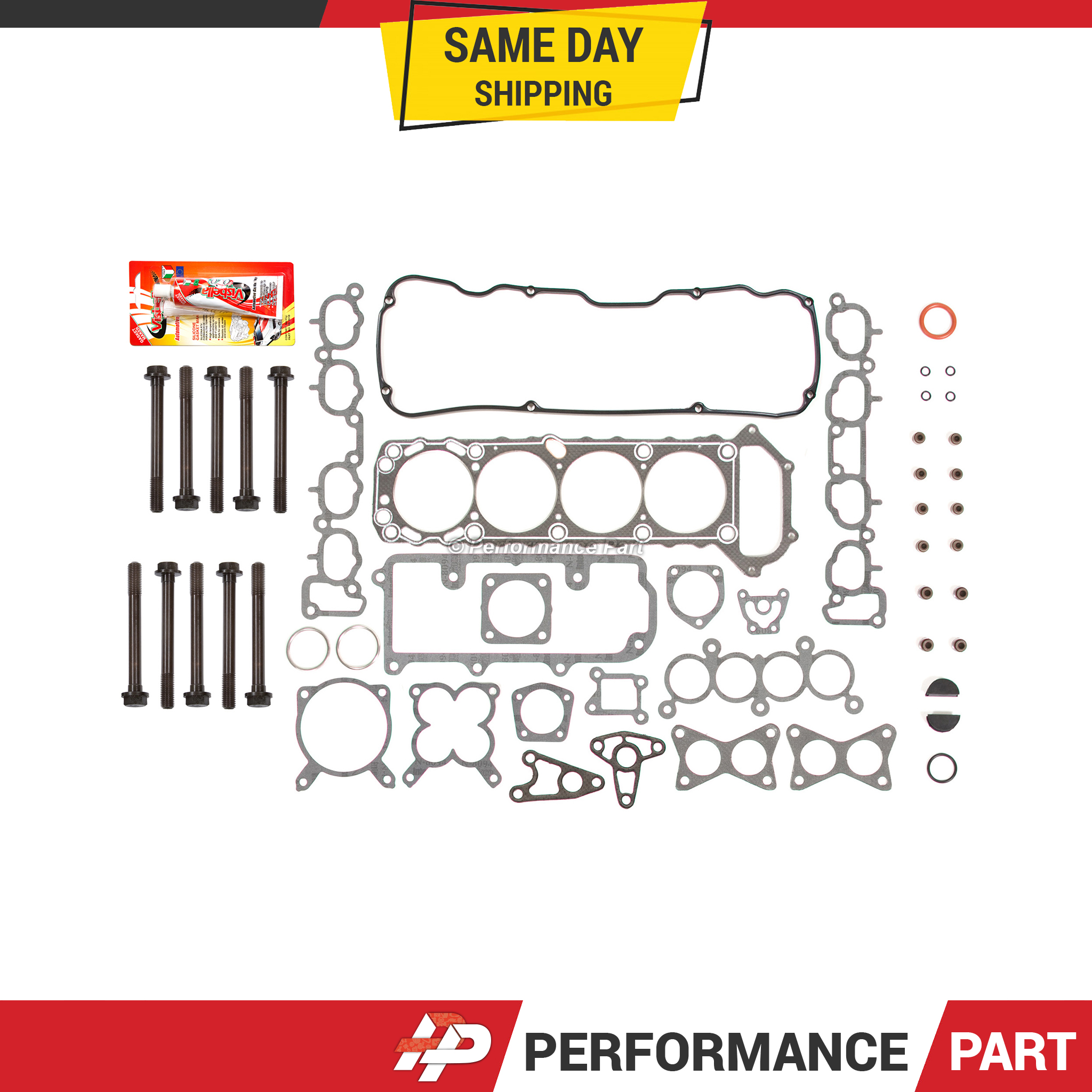 Cyl. Head & Valve Cover Gasket Head Gasket Bolts Set Fit 89-95 Nissan 240SX PickUp 2.4L SOHC KA24E Gaskets