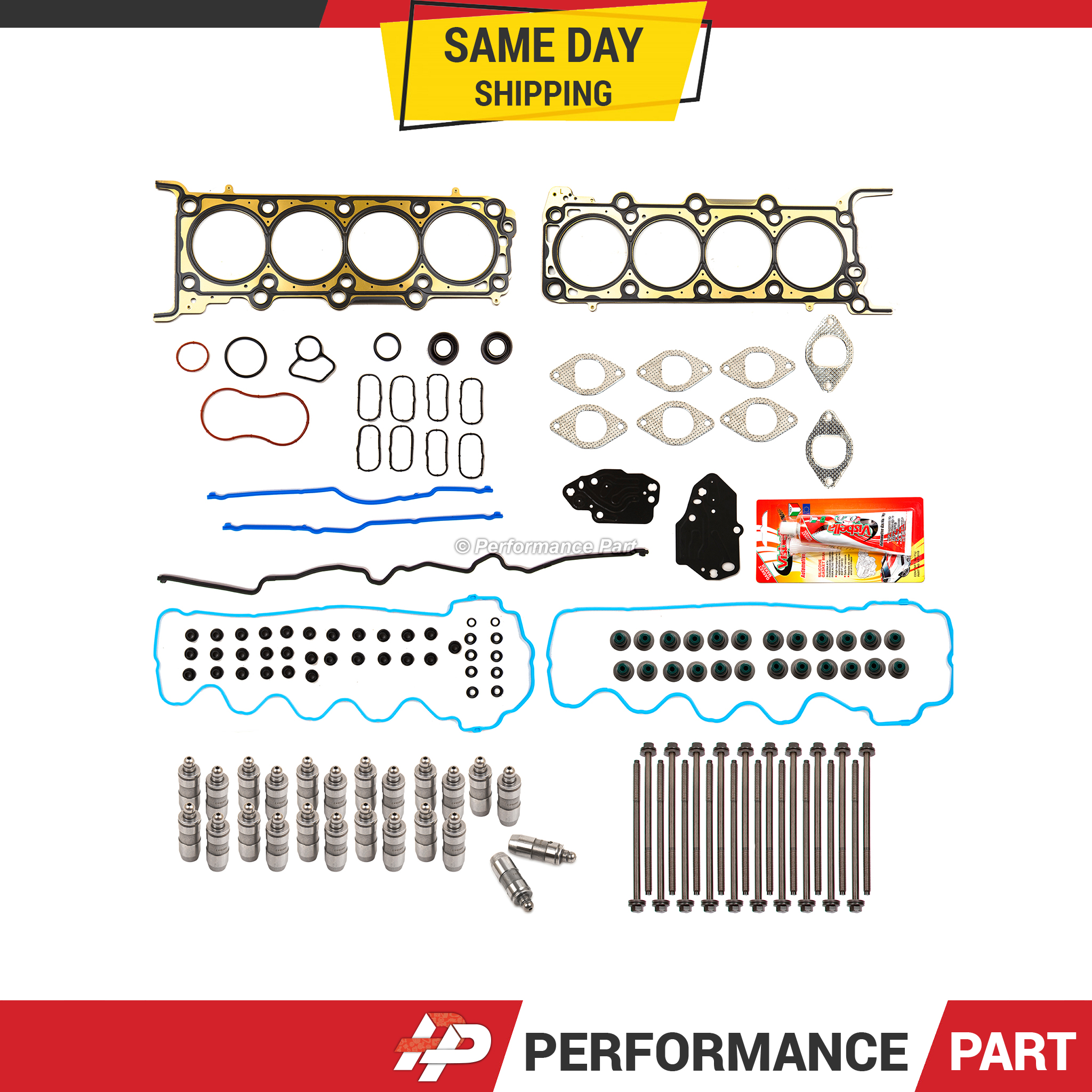 Head Gasket Set Bolts Lifters Fits 05-06 Ford Mustang 4.6L SOHC 24V VIN H